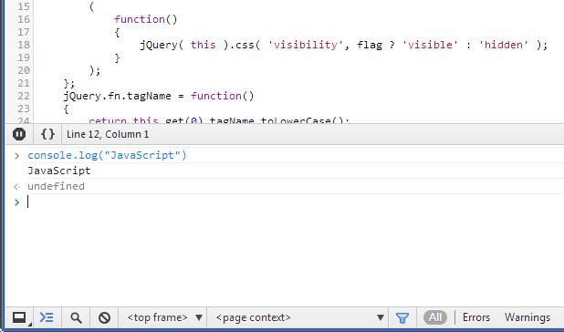 Console Javascript