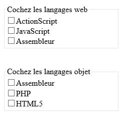 Les balises fieldset  HTML