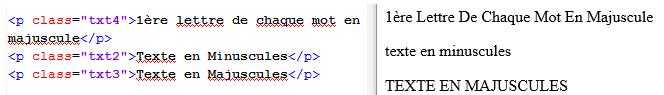 Transformations du texte grâce à CSS 3