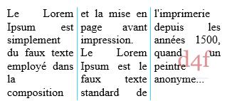 CSS Contenu présenté en colonnes