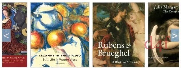 Des milliers de livres d'art moderne