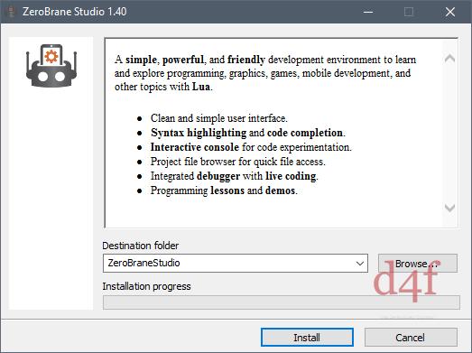 Installer ZeroBrane Studio