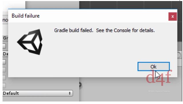 "Comment fixer l'erreur ""Gradle Build failed error in Unity"""